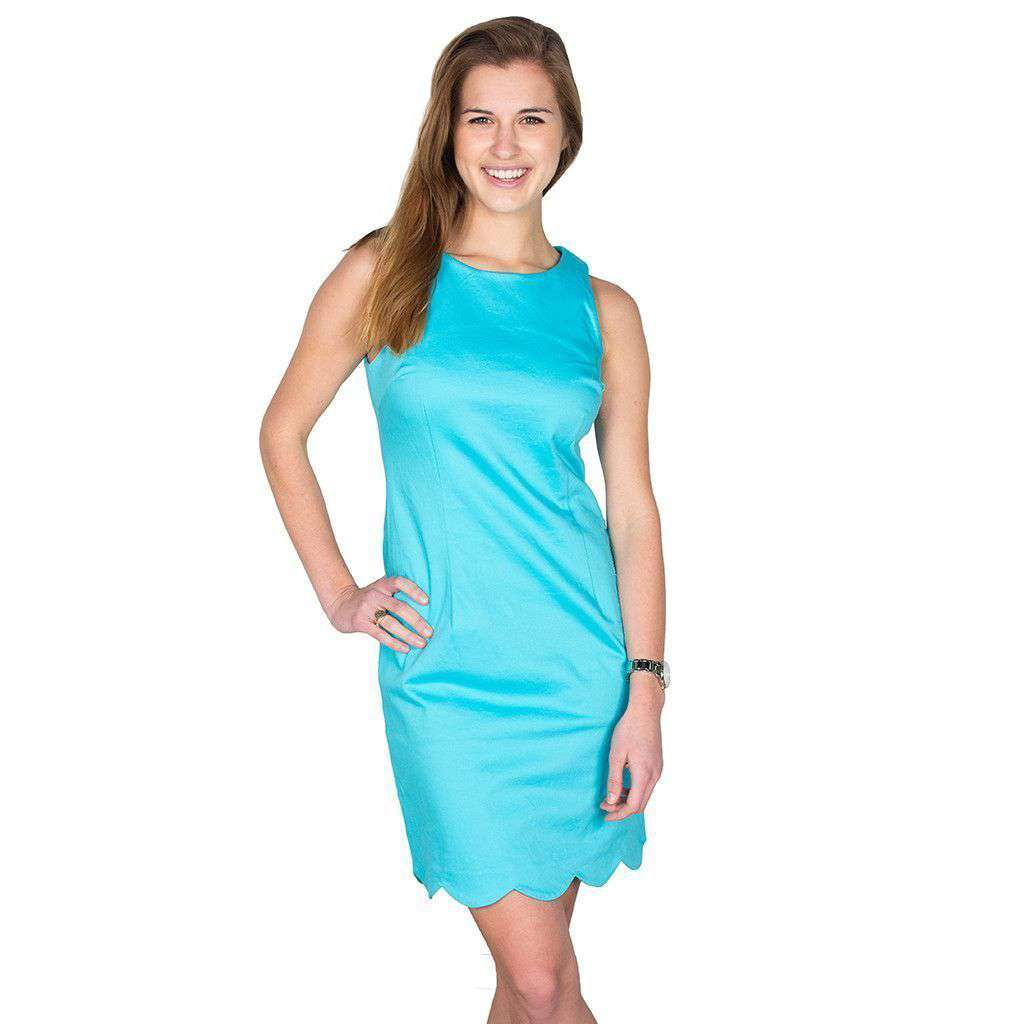 Charleston Scallop Dress in Crystal Blue by Southern Tide  - 4