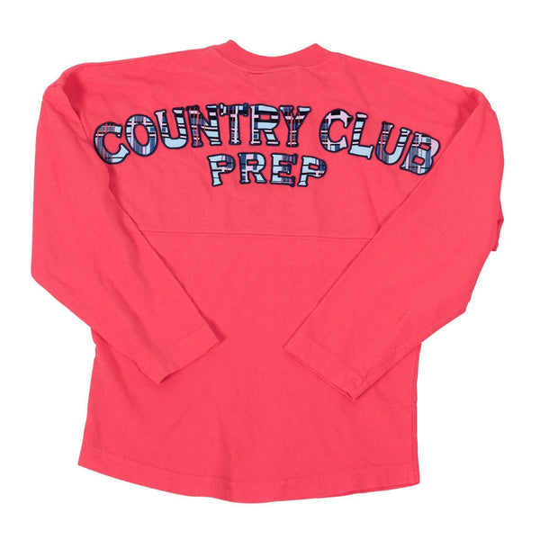 Childs Country Club Prep Jersey in Coral and Madras by Spirit Jersey  - 1