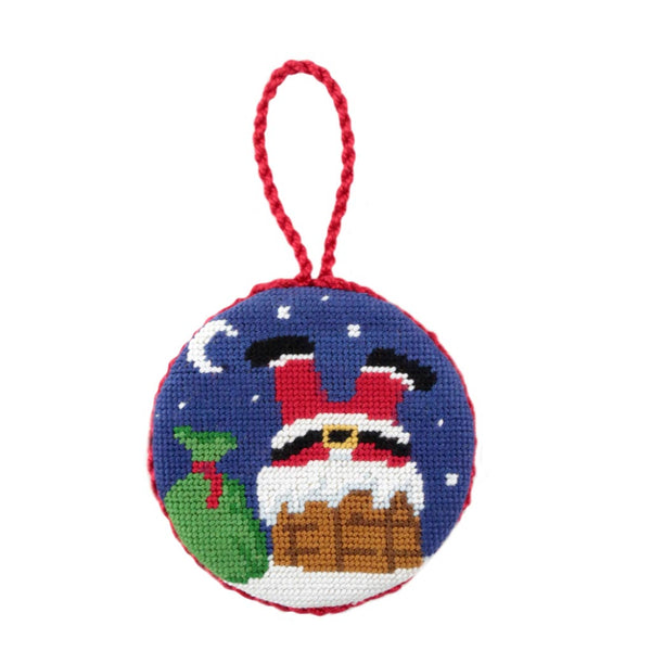 Chimney Santa Needlepoint Ornament by Smathers & Branson