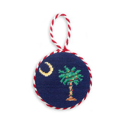 South Carolina Palmetto Christmas Needlepoint Ornament by Smathers & Branson