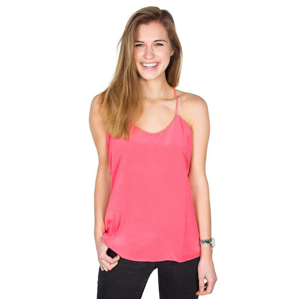 Chloe Silk Cami in Berry by Southern Tide  - 2