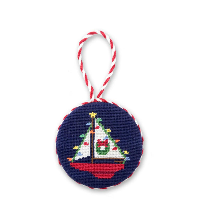 Christmas Sailboat Needlepoint Ornament by Smathers & Branson