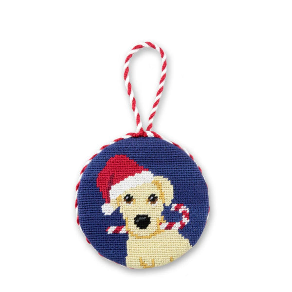 Christmas Yellow Lab Needlepoint Ornament by Smathers & Branson