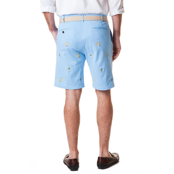 Stretch Twill Cisco Short with Lucky Mint Julep & Horse Shoe by Castaway Clothing