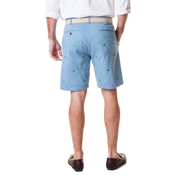 Pot Leaf Stretch Twill Cisco Short in Slate by Castaway Clothing