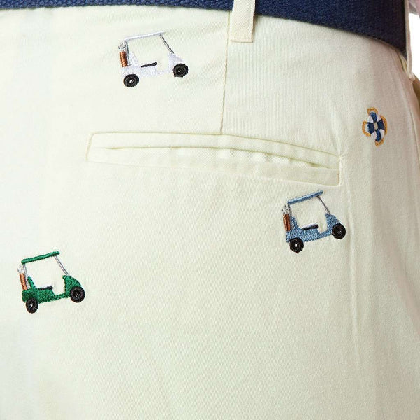 Castaway Clothing Harbor Pant with Embroidered Golf Carts by Castaway Clothing