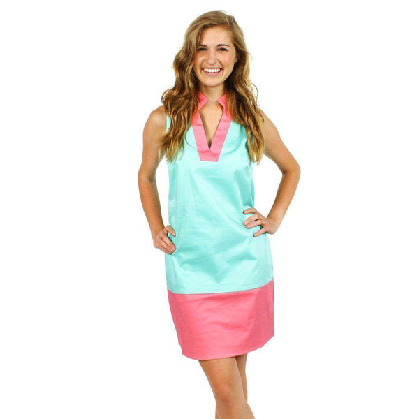 Color Block Shift Dress in Cabbage and Pink by Sail to Sable  - 1