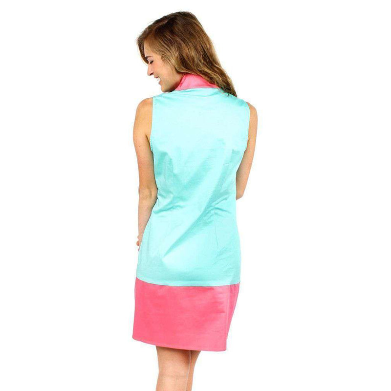 Color Block Shift Dress in Cabbage and Pink by Sail to Sable  - 2