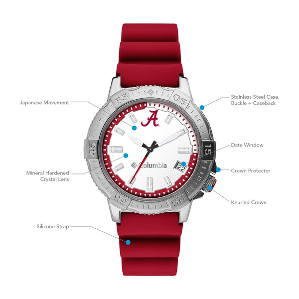 Alabama Peak Patrol 45mm Silicone Strap Watch by Columbia Sportswear