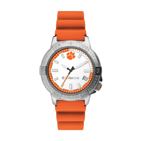 Clemson Peak Patrol 45mm Silicone Strap Watch by Columbia Sportswear