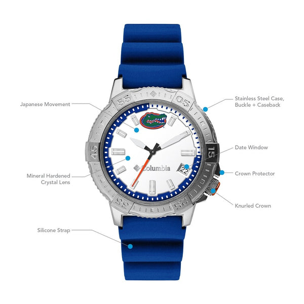 University of Florida Peak Patrol 45mm Silicone Strap Watch by Columbia Sportswear
