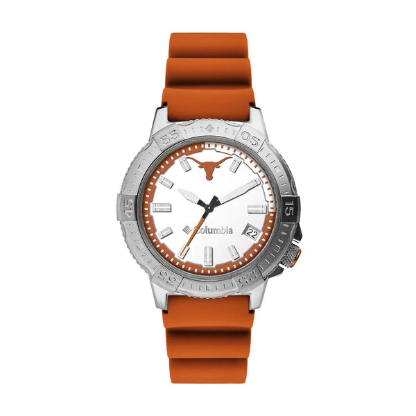 Texas Longhorns Peak Patrol 45mm Silicone Strap Watch by Columbia Sportswear