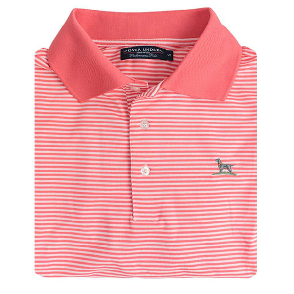 The Performance Polo in Coral by Over Under Clothing