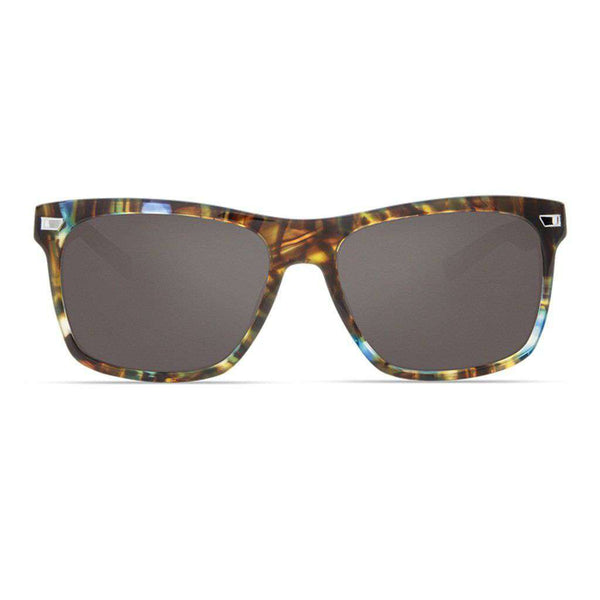 Aransas Sunglasses in Shiny Ocean Tortoise with Gray Polarized Glass Lenses by Costa del Mar
