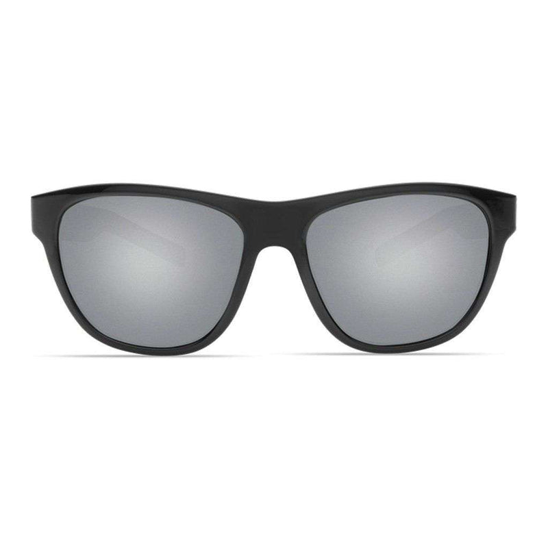 Bayside Sunglasses in Shiny Black with Gray Polarized Glass Lenses by Costa del Mar