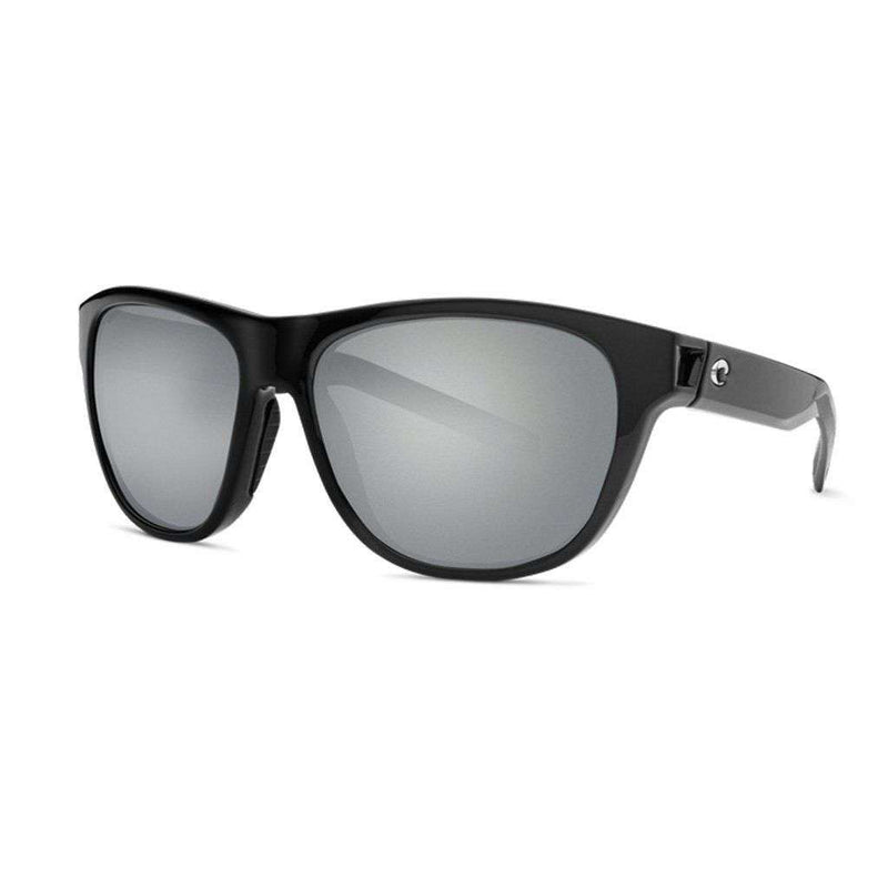 Costa del Mar Bayside Sunglasses in Shiny Black with Gray Polarized Glass