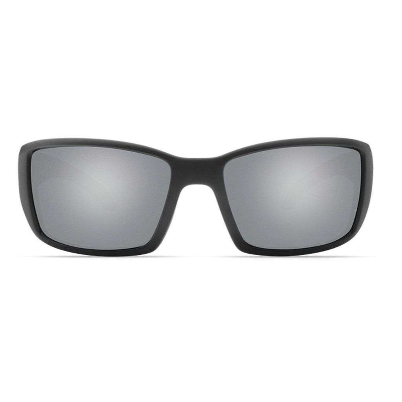 Blackfin Sunglasses in Matte Black with Gray Polarized Glass Lenses by Costa del Mar
