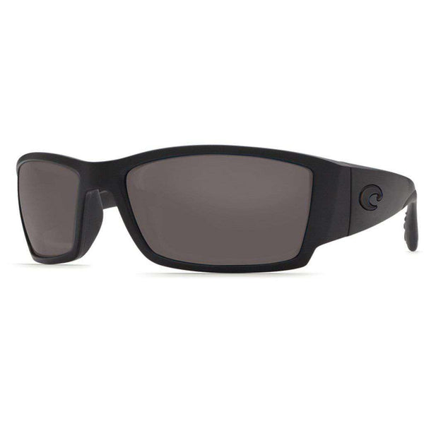 Corbina Sunglasses in Blackout with Gray Polarized Glass Lenses by Costa del Mar
