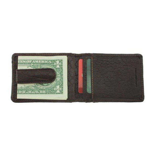Cheyenne Bison Front Pocket Wallet in Dark Briar by Country Club Prep