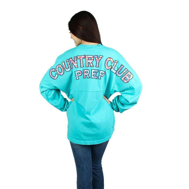 Country Club Prep Jersey in Seafoam and Madras by Spirit Jersey  - 1