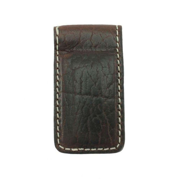 Country Club Prep Vegas Bison Money Clip in Briar Brown