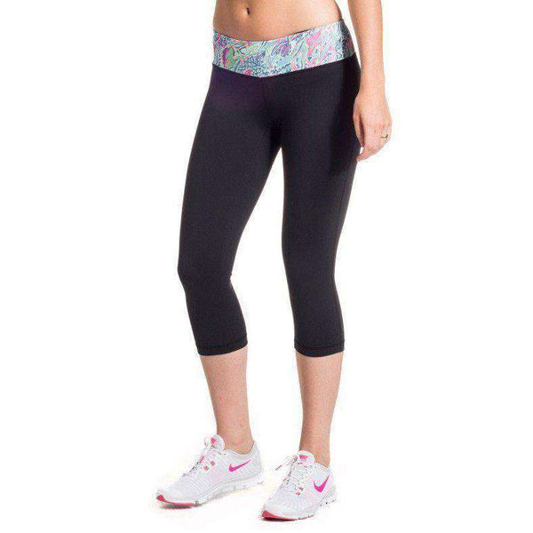 Cropped Run Runner Leggings in Scaled Back by Krass & Co.  - 1