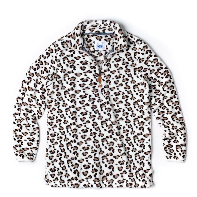 Oslo Leopard Fleece Pullover by Nordic Fleece