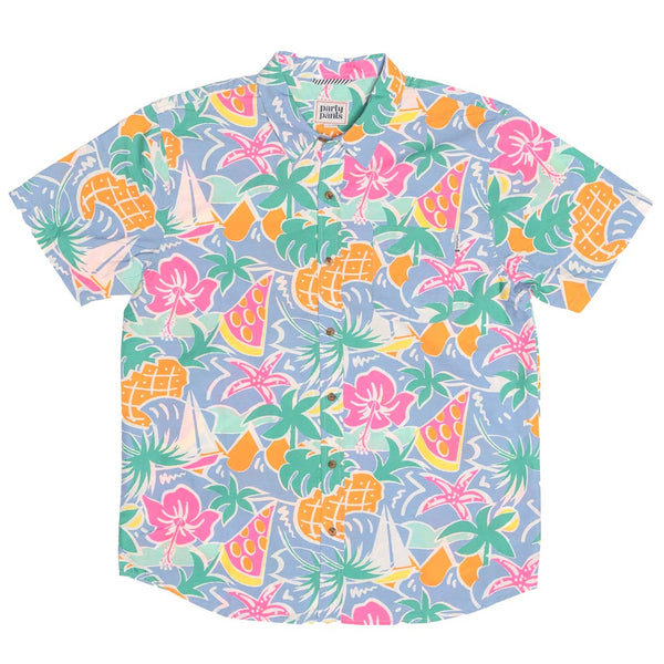 Tropical Short Sleeve Button Down Party Shirt by Party Pants