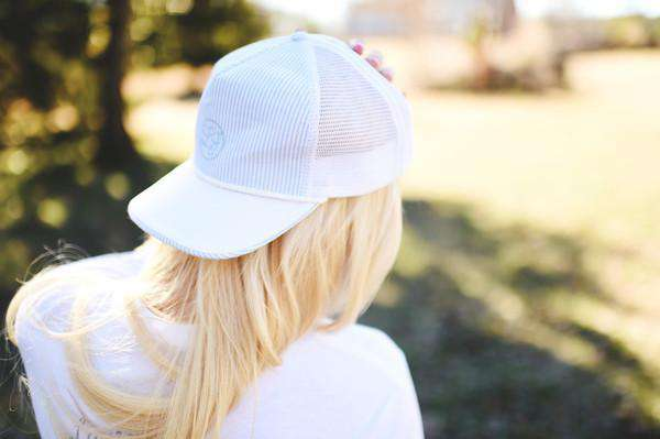Seersucker Snapback Hat in Light Blue by Lauren James  - 2