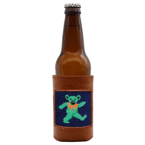 Dancing Bear Needlepoint Bottle Cooler by Smathers & Branson