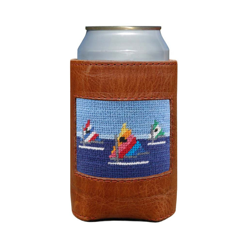 Day Sailor Needlepoint Can Cooler by Smathers & Branson