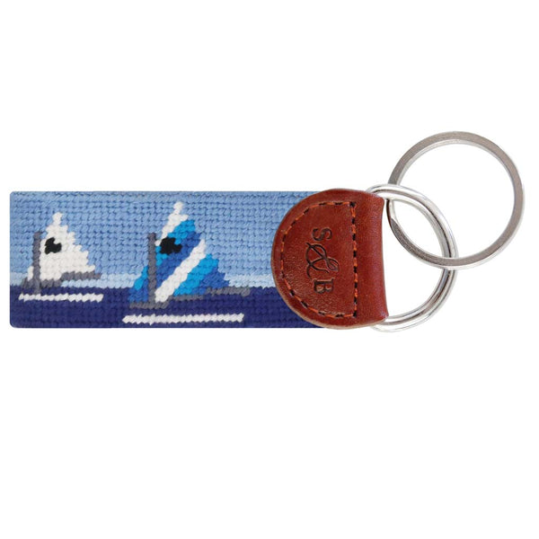 Day Sailor Needlepoint Key Fob by Smathers & Branson