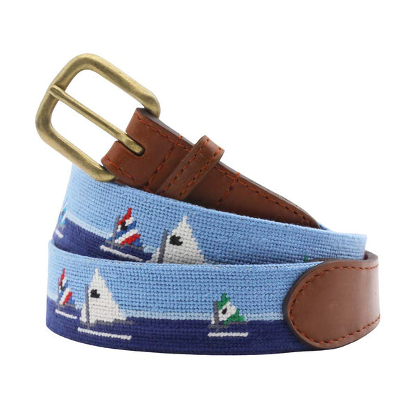 Day Sailor Needlepoint Belt by Smathers & Branson