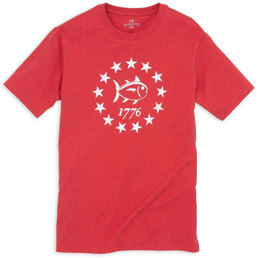 Declaration Tee Shirt in Heathered Red by Southern Tide  - 1