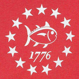 Declaration Tee Shirt in Heathered Red by Southern Tide  - 2