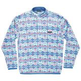 Dorado Fleece Pullover in Teal and Pink by Southern Marsh  - 1