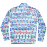 Dorado Fleece Pullover in Teal and Pink by Southern Marsh  - 3
