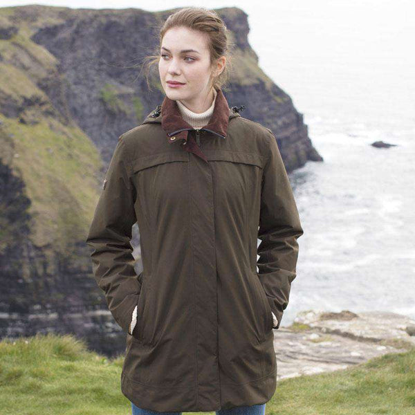Dubarry of Ireland Leopardstown Women's Gore-Tex Coat in Olive by Dubarry of Ireland