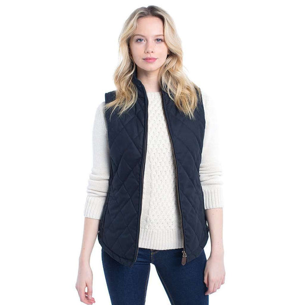 Dubarry of Ireland Women's Callaghan Quilted Gilet in Navy by Dubarry of Ireland