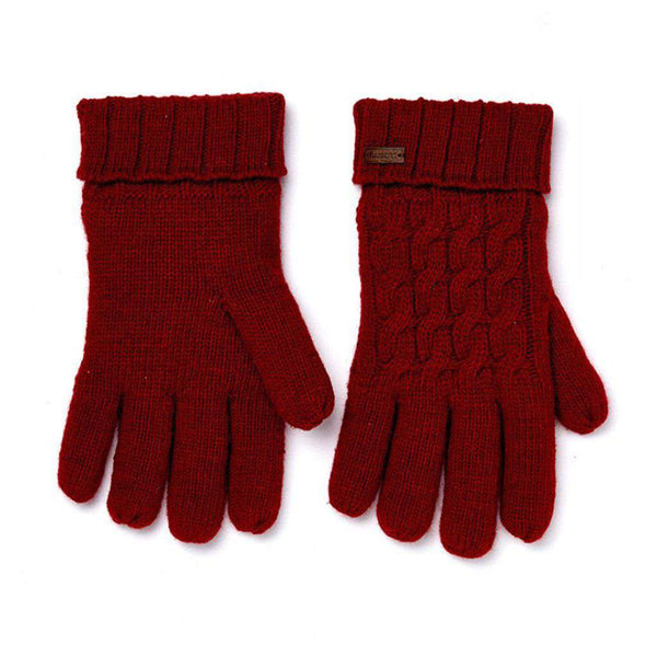 Dubarry of Ireland Arklow Knitted Gloves cardinal
