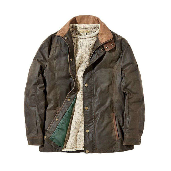 Carrickfergus Waxed Cotton Jacket in Olive by Dubarry of Ireland