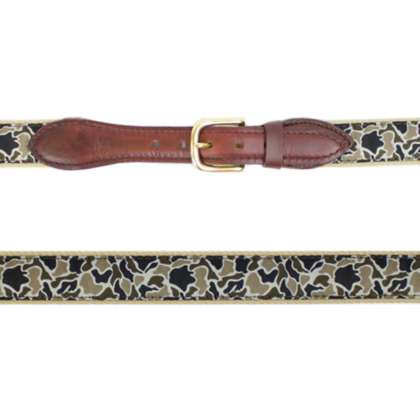 Old School Ribbon Belt in Duck Camo by Over Under Clothing