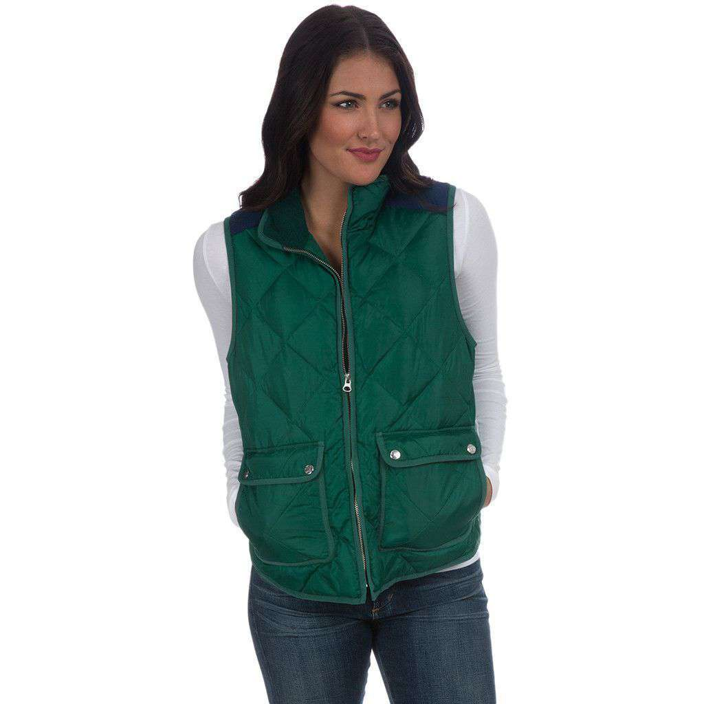 Easton Vest in Hunter Green by Lauren James  - 1