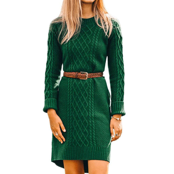 Kiel James Patrick Evergreen Knit Sweater Dress by Kiel James Patrick