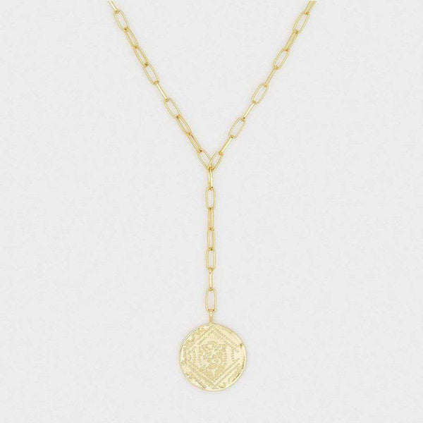 Gorjana Ana Coin Lariat in Gold by Gorjana