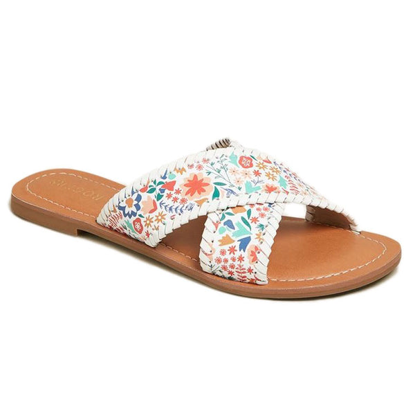 Sloane X-Band Icon Floral Sandal by Jack Rogers