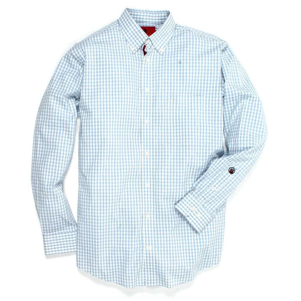 Southern Proper The Goal Line Button Down in Dust Blue