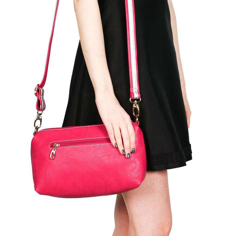 Faux Leather Cross Body Bag in Raspberry by Street Level  - 2