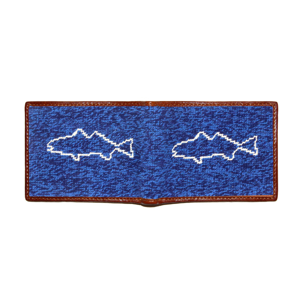 Fish on the Line Needlepoint Wallet by Smathers & Branson