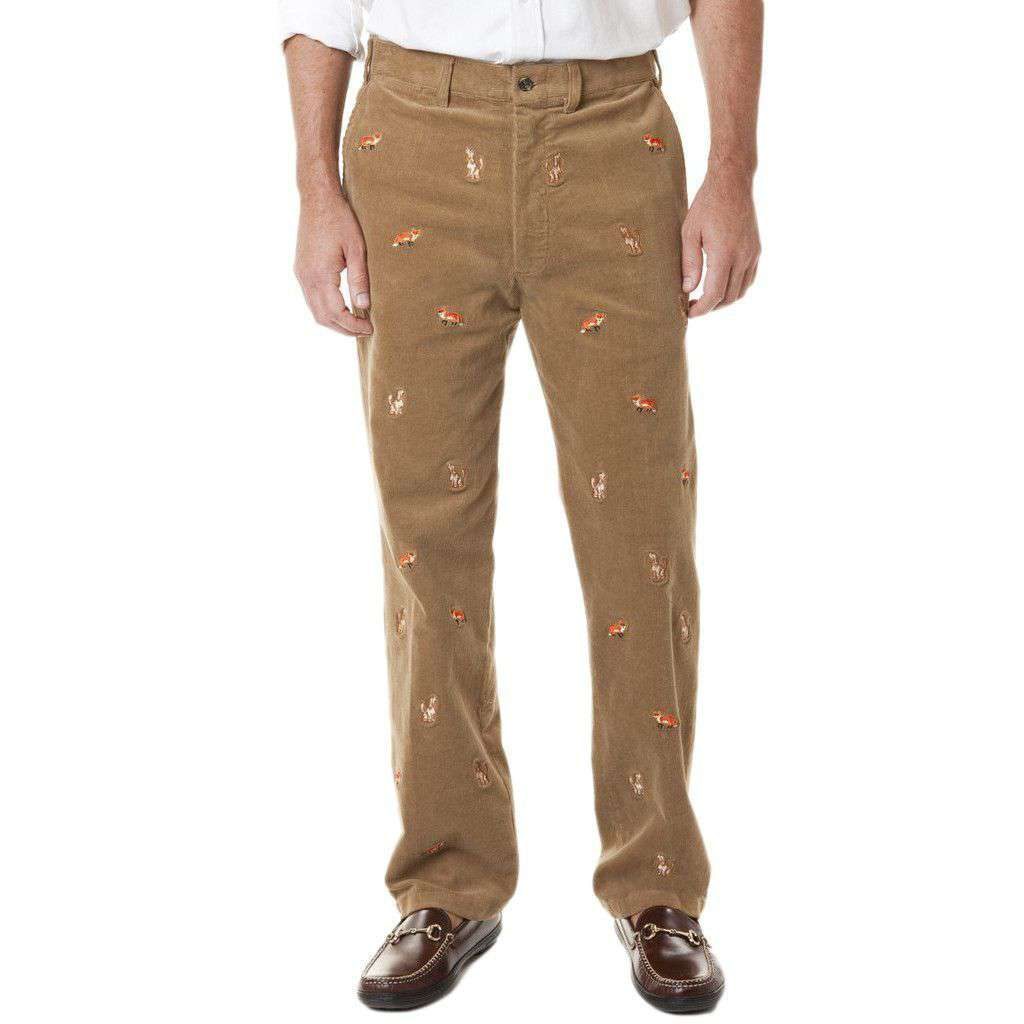 Beachcomber Corduroy Pants in Khaki with Fox & Hound by Castaway Clothing  - 1